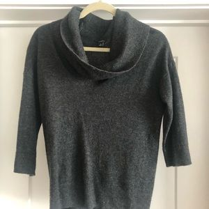 Cowl neck gray sweater